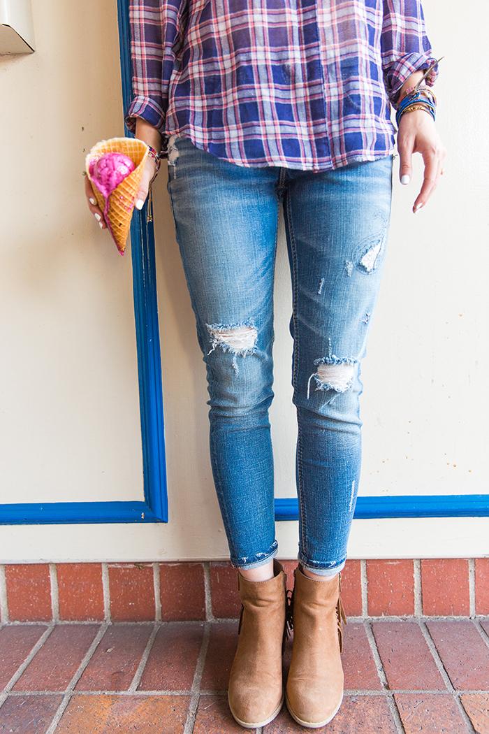 livvyland-blog-olivia-watson-silver-jeans-co-laguna-beach-austin-texas-fashion-blogger-denim-under-100-best-1-ice-cream-cone-beet-pink-california-main-street