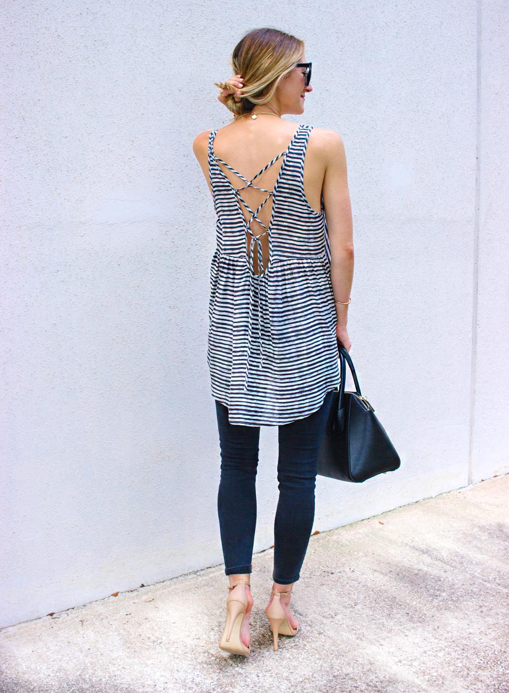 livvyland-blog-hi-lo-striped-strappy-back-open-back-tank-top-topshop-jamie-jeans-olivia-watson-austin-texas-fashion-blogger-stecy-nude-heels-1