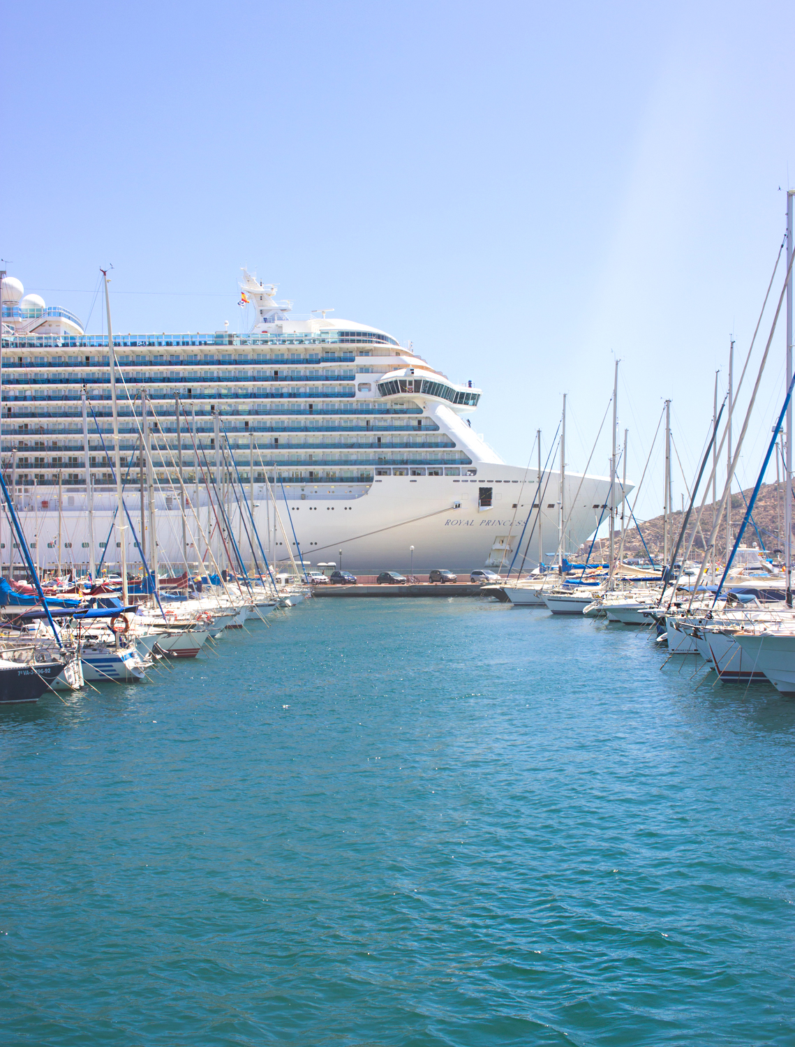 livvyland-blog-olivia-watson-princess-cruise-cabin-balcony-mediterranean-coast-royal-princess-cartagena-spain-port