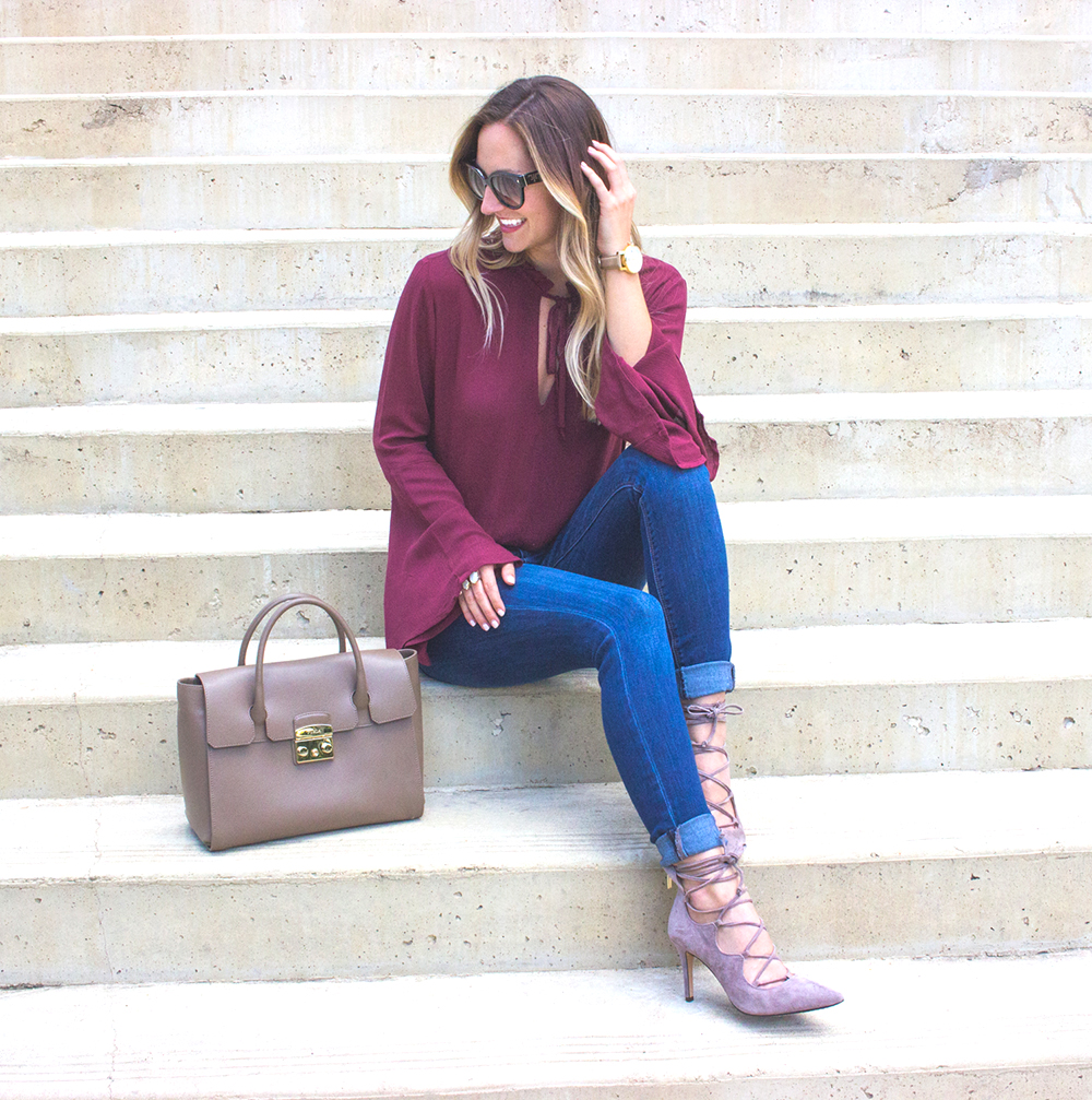 livvyland-blog-olivia-watson-fall-outfit-lace-up-heels-bell-sleeve-oxblood-top-austin-texas-fashion-blogger-1