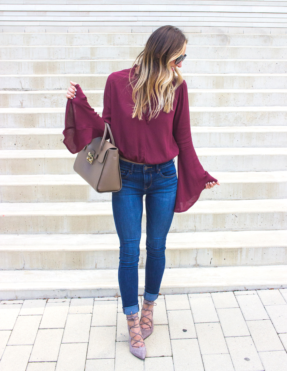 livvyland-blog-olivia-watson-fall-outfit-lace-up-heels-bell-sleeve-oxblood-top-austin-texas-fashion-blogger-2