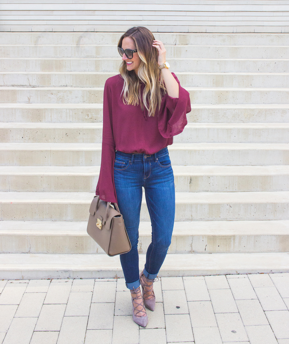 livvyland-blog-olivia-watson-fall-outfit-lace-up-heels-bell-sleeve-oxblood-top-austin-texas-fashion-blogger-4