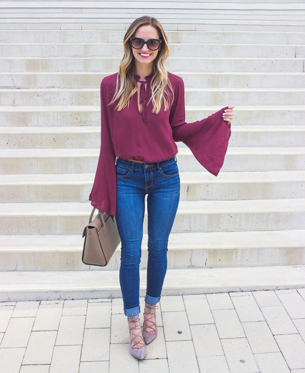 livvyland-blog-olivia-watson-fall-outfit-lace-up-heels-bell-sleeve-oxblood-top-austin-texas-fashion-blogger-6