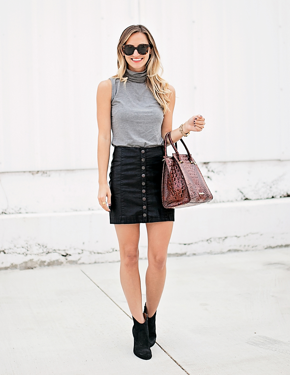 livvyland-blog-olivia-watson-bailey-44-grey-turtleneck-tank-top-free-people-leather-button-up-a-line-mini-skirt-celine-marta-sunglasses-8