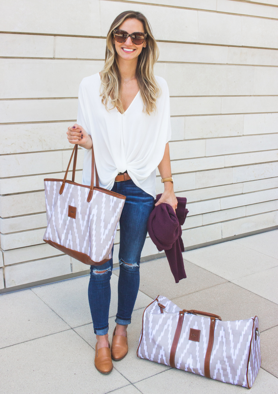 livvyland-blog-olivia-watson-barrington-gifts-chevron-print-monogram-tote-bag-duffel-luggage-dl-1961-emma-jeans-austin-texas-fashion-blogger-2