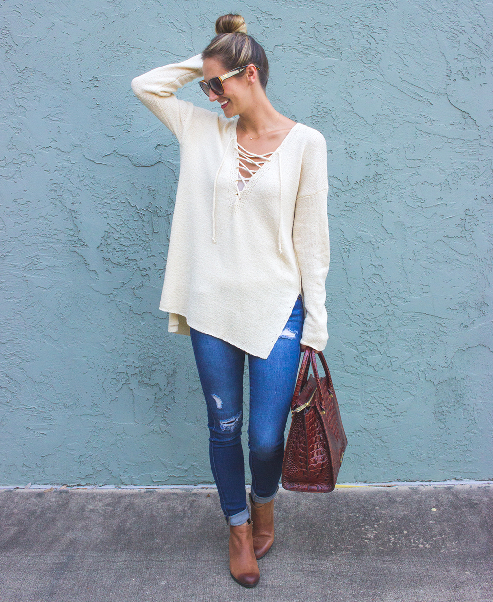 livvyland-blog-olivia-watson-knit-sweater-jeans-booties-zappos-clarks-ankle-boots-gelata-italia-brahmin-priscilla-handbag-1