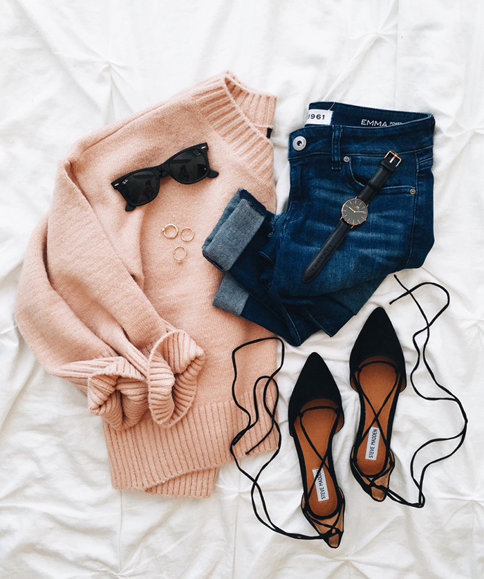 livvyland-blog-olivia-watson-austin-texas-fashion-blogger-fall-outfit-style-blush-pink-chunky-sweater-outfit