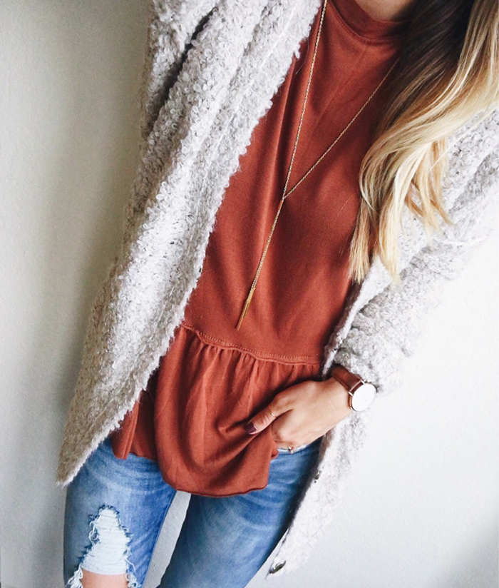 livvyland-blog-olivia-watson-austin-texas-fashion-blogger-fall-outfit-style-burnt-orange-rust-peplum-cozy-knit-sweater-boho