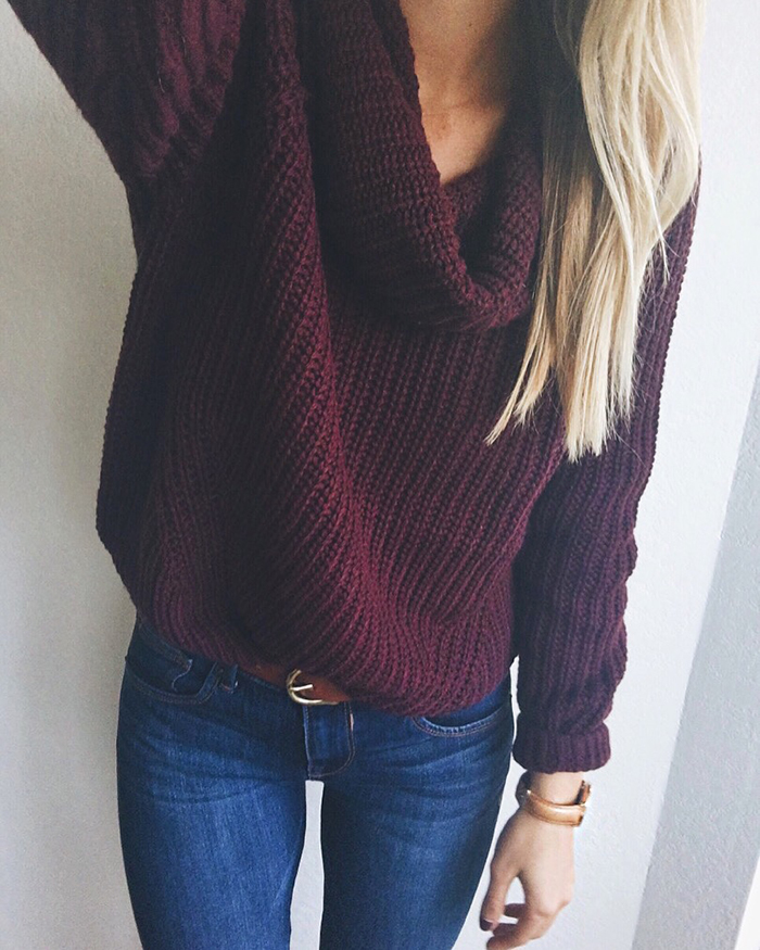 livvyland-blog-olivia-watson-austin-texas-fashion-blogger-fall-outfit-style-maroon-wine-chunky-turtleneck-sweater-jeans