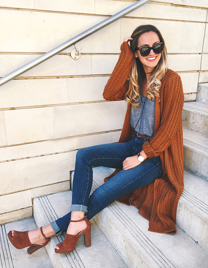 livvyland-blog-olivia-watson-austin-texas-fashion-blogger-fall-outfit-style-peep-toe-rust-heels-waffle-knit-cardigan