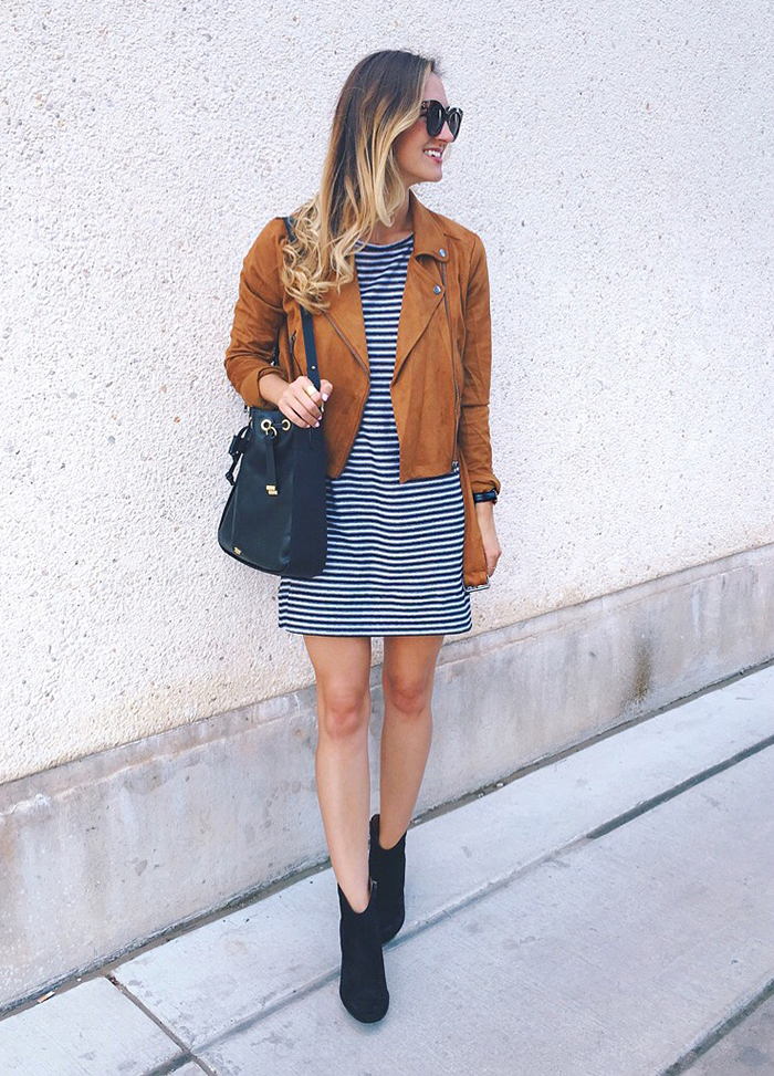 livvyland-blog-olivia-watson-austin-texas-fashion-blogger-fall-outfit-style-striped-dress-suede-moto-jacket