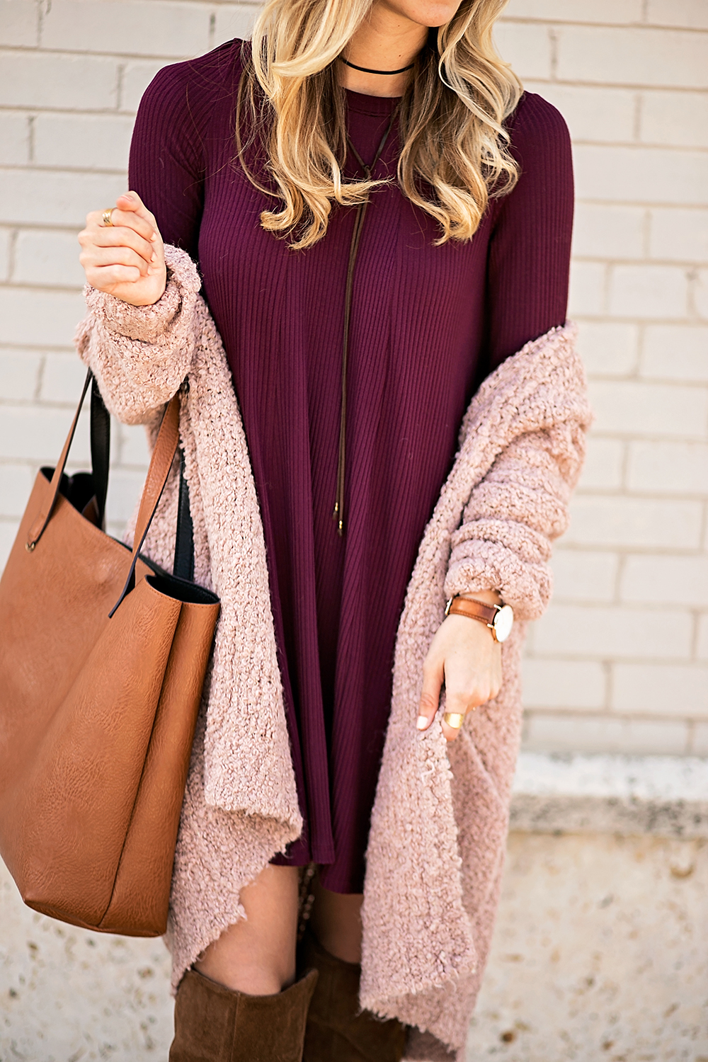 livvyland-blog-olivia-watson-cozy-fall-layers-dress-otk-boots-chunky-knit-cardigan-blush-pink-boho-outfit-1