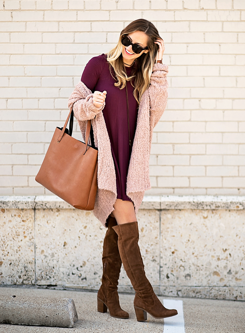 livvyland-blog-olivia-watson-cozy-fall-layers-dress-otk-boots-chunky-knit-cardigan-blush-pink-boho-outfit-10