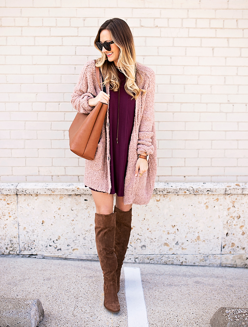 livvyland-blog-olivia-watson-cozy-fall-layers-dress-otk-boots-chunky-knit-cardigan-blush-pink-boho-outfit-2