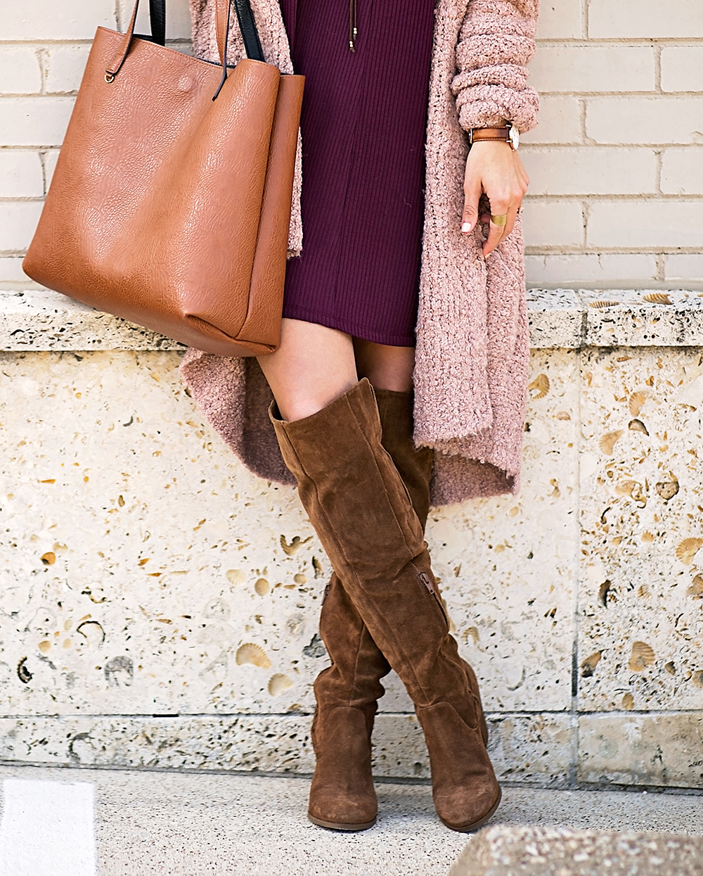 livvyland-blog-olivia-watson-cozy-fall-layers-dress-otk-boots-chunky-knit-cardigan-blush-pink-boho-outfit-7