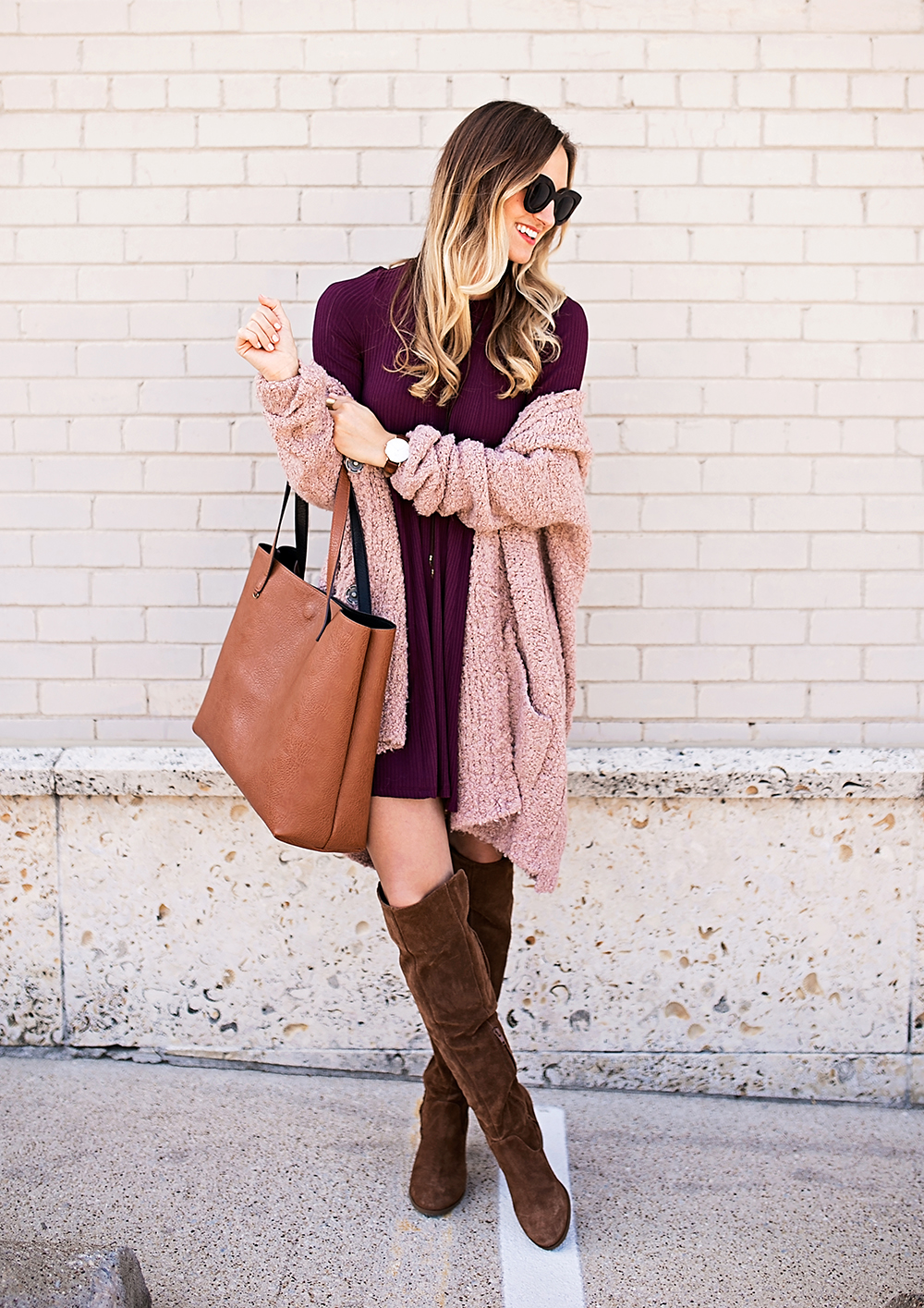 livvyland-blog-olivia-watson-cozy-fall-layers-dress-otk-boots-chunky-knit-cardigan-blush-pink-boho-outfit-9