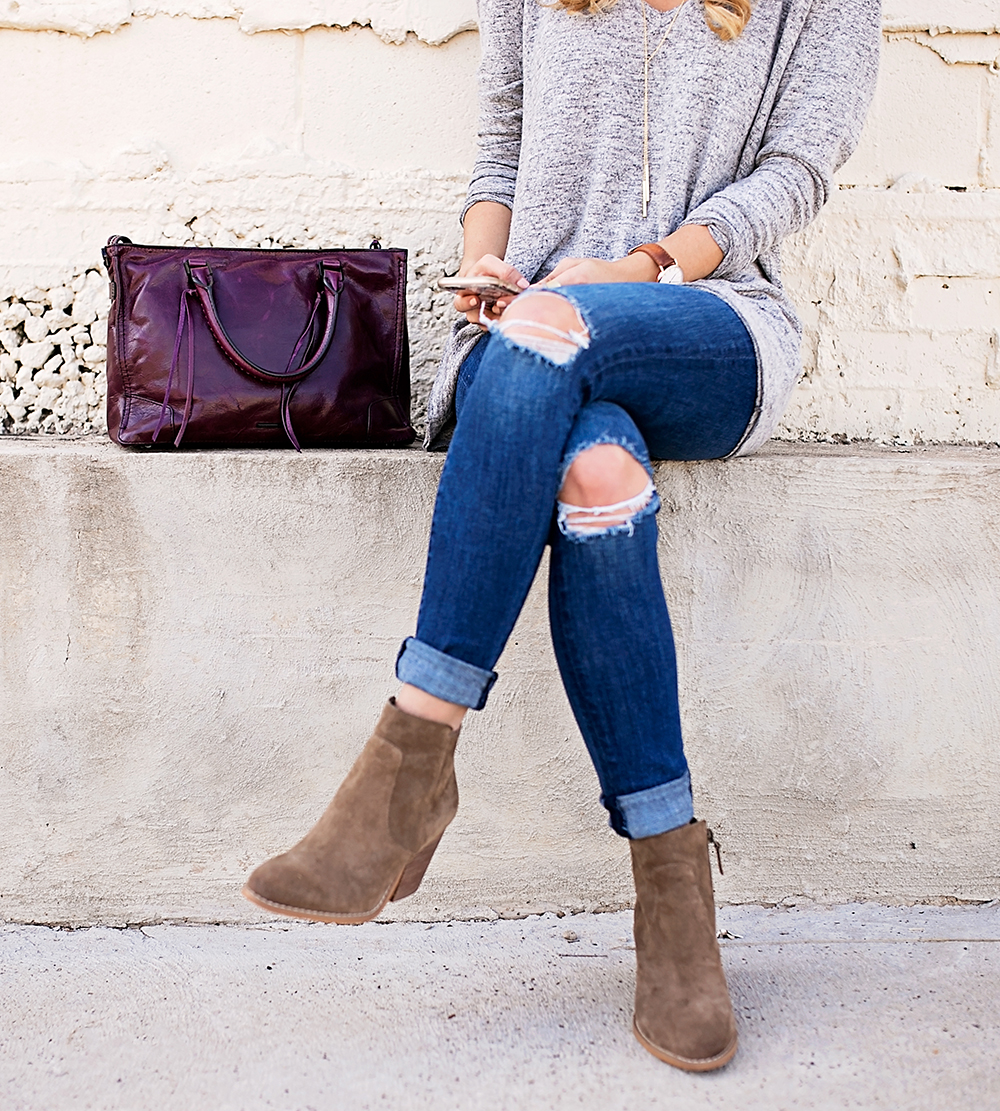 livvyland-blog-olivia-watson-nordstrom-fall-outfit-grey-sweater-booties-madewell-plaid-poncho-rebecca-minkoff-regan-satchel-burgundy-oxblood-3