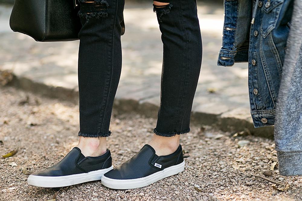 vans slip ons skinny jeans