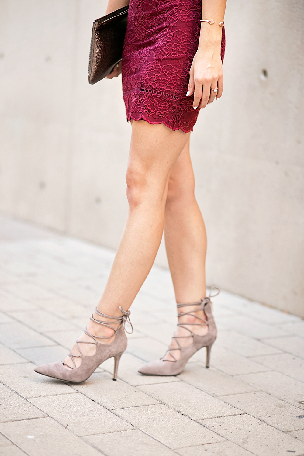 livvyland-blog-olivia-watson-holiday-red-lace-cocktail-dress-party-outfit-winter-holiday-office-nye-what-to-wear-suede-taupe-pumps