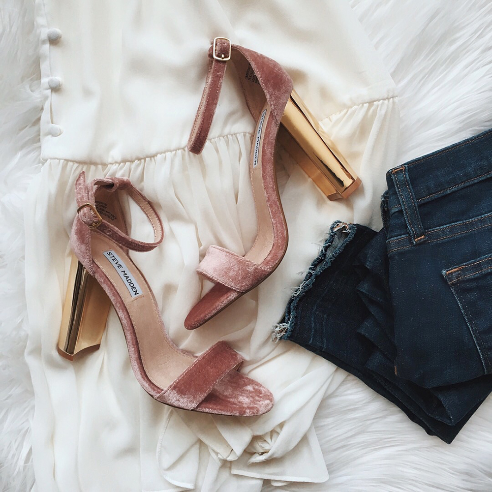 livvyland-blog-olivia-watson-instagram-roundup-december-cozy-blush-pink-velvet-gold-heels-new-years-eve-shoes-pumps