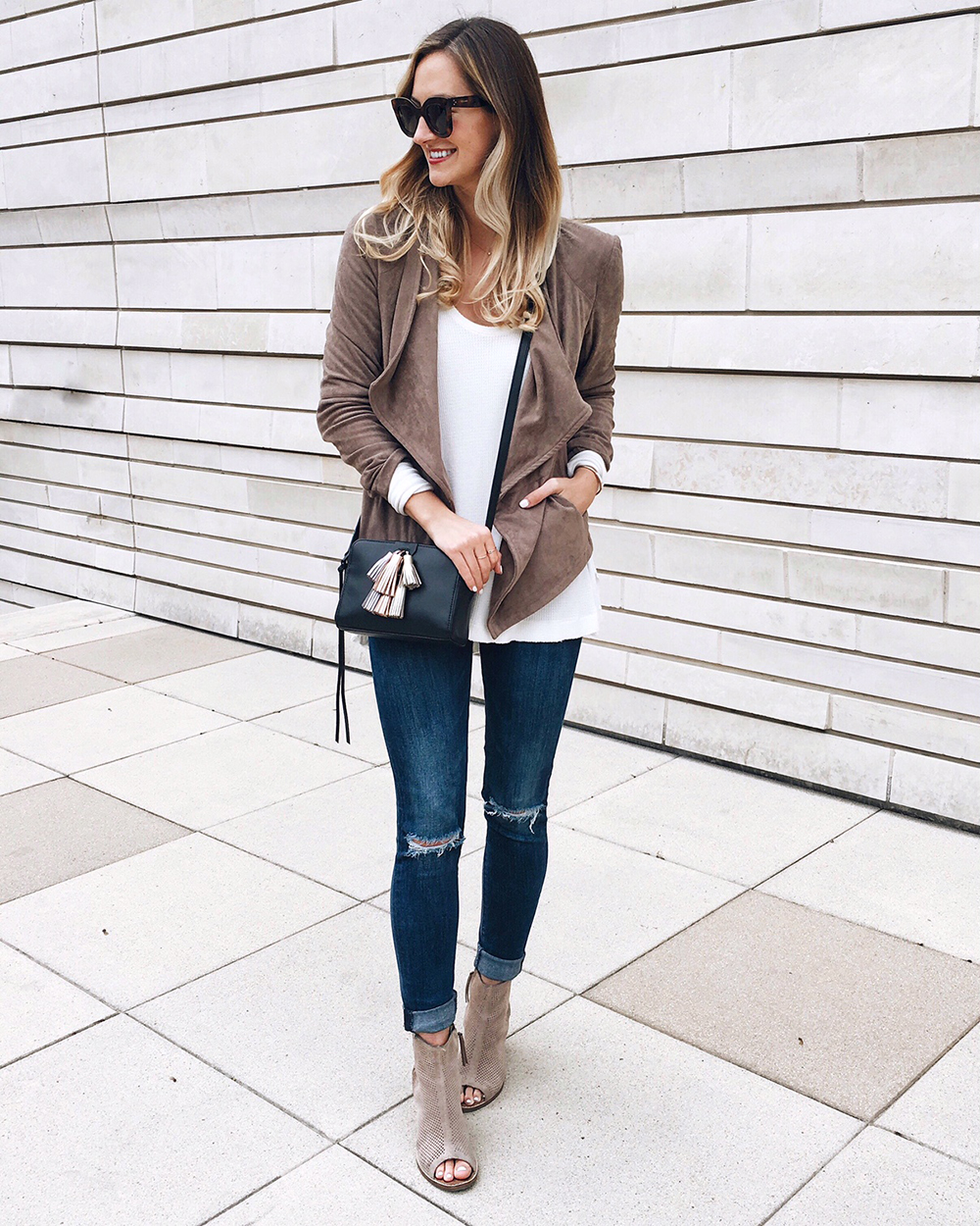livvyland-blog-olivia-watson-instagram-roundup-december-cozy-draped-front-jacket-bb-dakota-suede-majorca-suede-peep-toe-booties