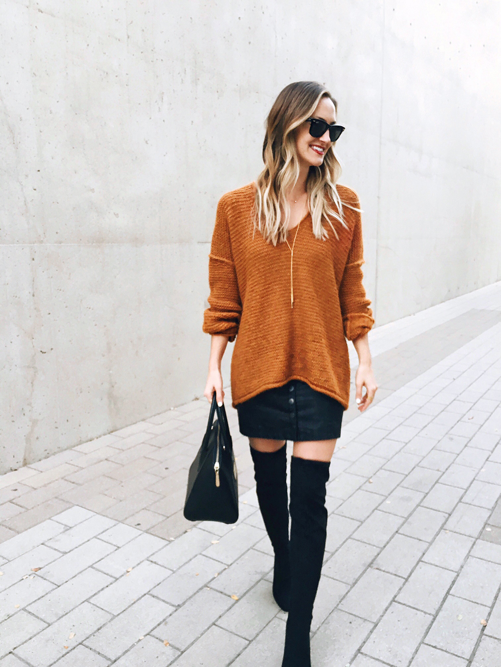 livvyland-blog-olivia-watson-instagram-roundup-december-cozy-mustard-knit-sweater-otk-boots-black-yellow