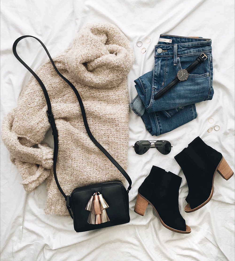 livvyland-blog-olivia-watson-instagram-roundup-december-cozy-oversize-free-people-sweater-black-peep-toe-booties-rebecca-minkoff-tassel-handbag