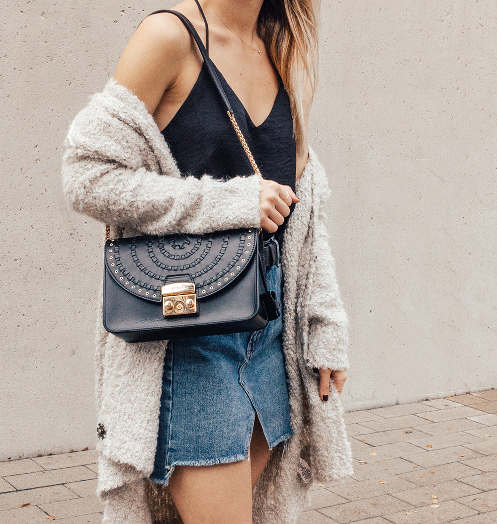 livvyland-blog-olivia-watson-denim-skirt-silk-cami-furla-black-handbag-vans-slip-on-sneakers-2