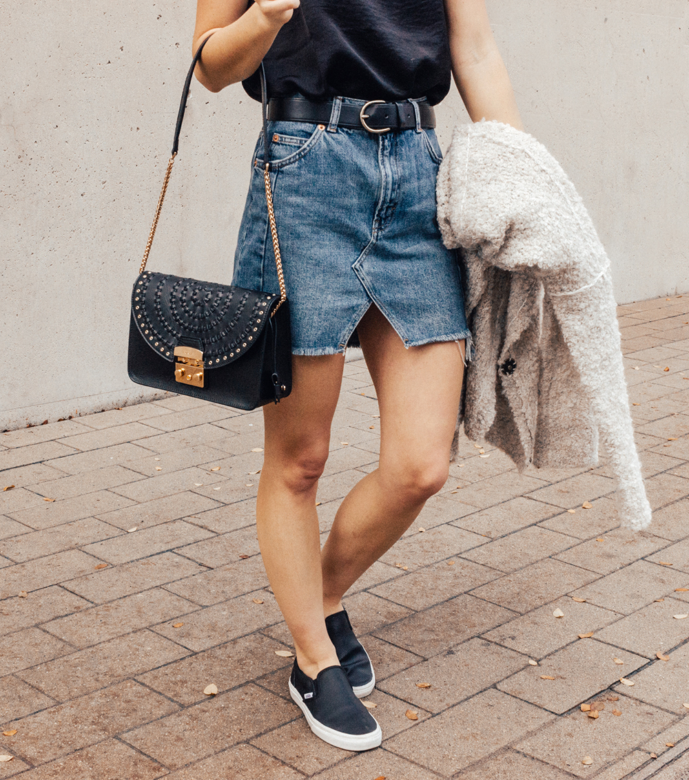 livvyland-blog-olivia-watson-denim-skirt-silk-cami-furla-black-handbag-vans-slip-on-sneakers-3