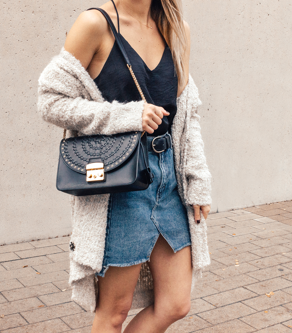 livvyland-blog-olivia-watson-denim-skirt-silk-cami-furla-black-handbag-vans-slip-on-sneakers-8