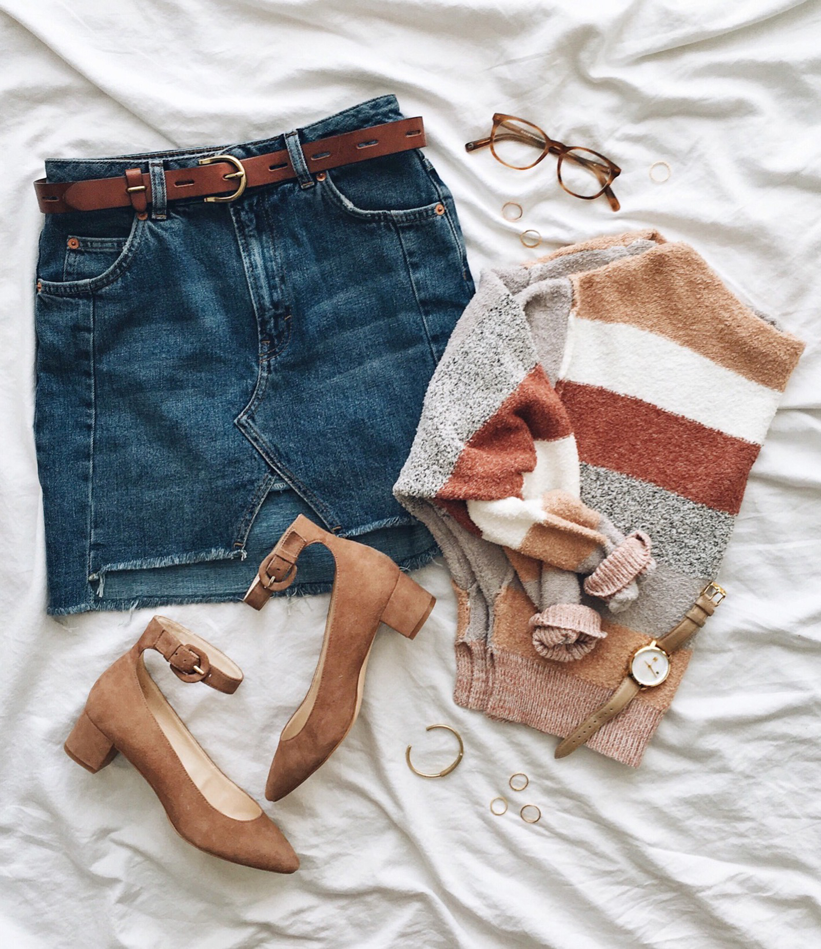 livvyland-blog-olivia-watson-instagram-roundup-austin-texas-cozy-winter-outfit-striped-sweater-block-heels