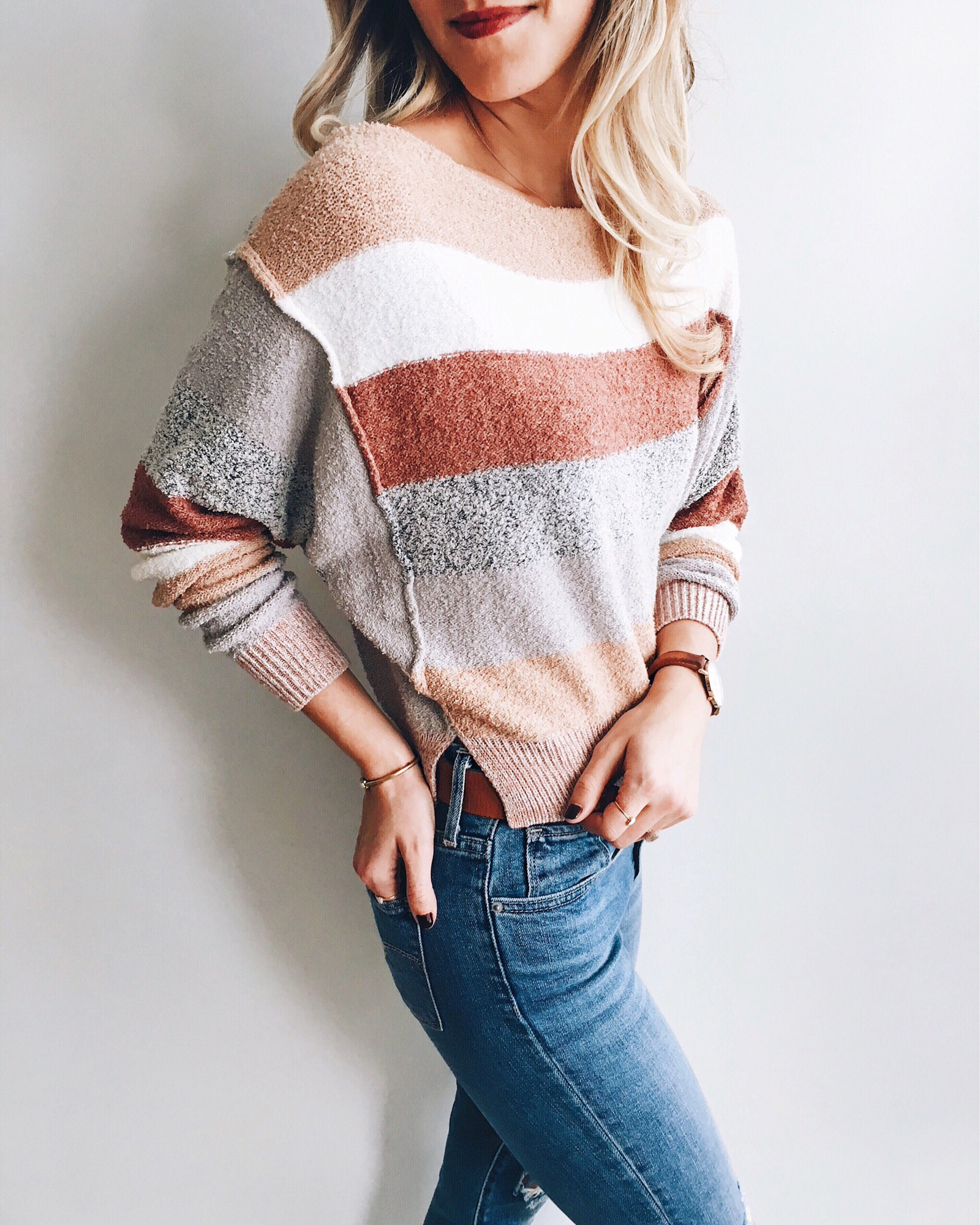 livvyland-blog-olivia-watson-instagram-roundup-austin-texas-cozy-winter-outfit-striped-sweater
