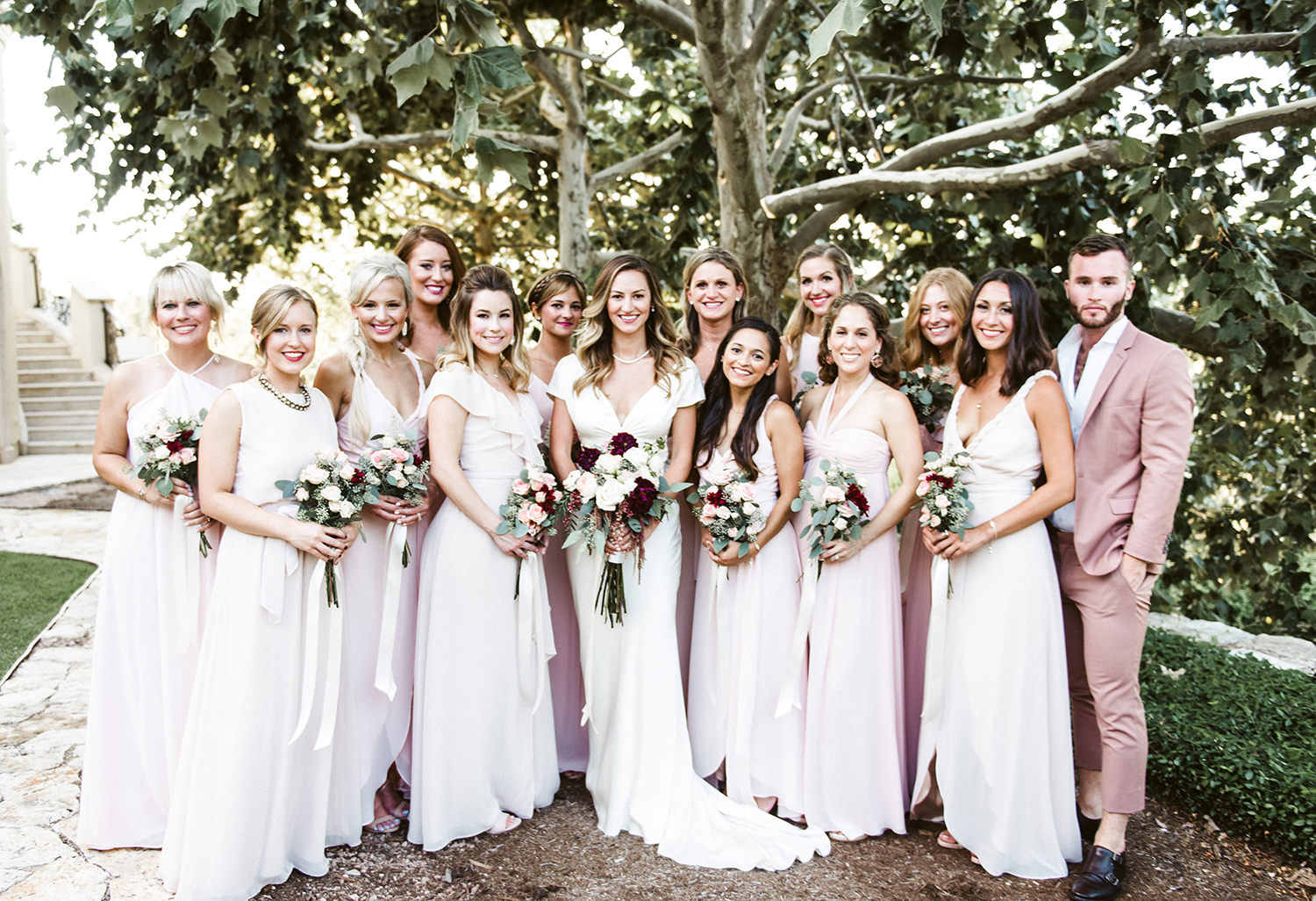livvyland-blog-olivia-watson-wedding-villa-del-lago-austin-texas-fall-blush-burgundy-classic-romantic-joanna-august-bridesmaid-dresses-2