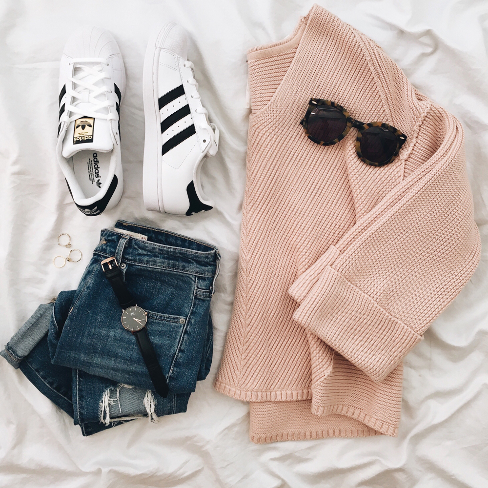 olivia-watson-livvyland-blog-adidas-sneakers-outfit-idea-free-people-pink-sweater